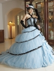 Discount Wholesale Wonderful Ball gown Strapless Chapel train Quinceanera Dresses Style CP218