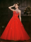 Discount Wholesale Beautiful Ball gown Strapless Floor-length Quinceanera Dresses Style AFLS613