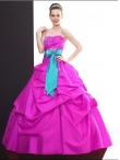 Discount Wholesale Wonderful ball gown sweetheart-neck floor-length quinceanera dresses Q500