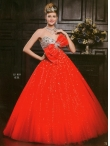 Discount Wholesale Exclusive Ball gown Sweetheart Floor-length Quinceanera Dresses Style AFLS610