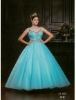 Discount Wholesale Latest Ball gown Strap Floor-length Quinceanera Dresses Style AFLS653