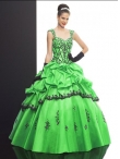 Discount Wholesale Lovely ball gown sweetheart-neck cap sleeves floor-length quinceanera dresses Q512