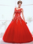 Discount Wholesale Remarkable Ball gown V- neck Floor-length Quinceanera Dresses Style AFFY278