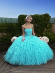 Discount Wholesale Wonderful Blue Ball gown Strapless Floor-length Quinceanera Dresses Style J6214