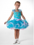Discount Wholesale Cute Ball gown Square Short Flower Girl Dresses Style UF1066