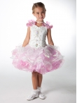 Discount Wholesale Pretty Ball gown V- neck Short Flower Girl Dresses Style UF1020