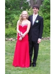 Discount Column Sweetheart Beading Prom Dress