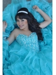 Discount Pretty Beading Aqua Blue Sweetheart Quinceanera Dress