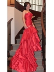 Discount Romantic Red Sweetheart Mermaid Wedding Dress