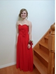 Discount Simple Empire Wine Red Sweetheart Floor-length Bridesmaid Dress