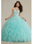 Discount High Quality Sweetheart Beaded and Ruffled Quinceanera Dress in Apple Green