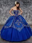 Discount Best Embroidery Quinceanera Gown Royal Blue Lace Up Sleeveless Floor Length