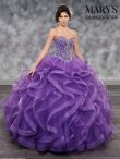 Discount Elegant Sweep Train Ball Gowns Sweet 16 Dresses Purple Sweetheart Tulle Sleeveless Lace Up