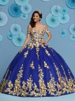 Discount Sophisticated Tulle Off The Shoulder Sleeveless Lace Up Appliques Sweet 16 Quinceanera Dress in Royal Blue